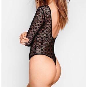 NWT Victoria's Secret | Black Lace Bodysuit | XS/S